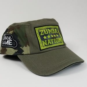 Zumba Wear Patched Up Military Hat, NWT